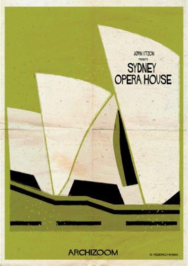 022 Sydney Opera House 01 905 380x538 - Side project na dnes: Plagáty svetoznámych budov vo filmovom štýle