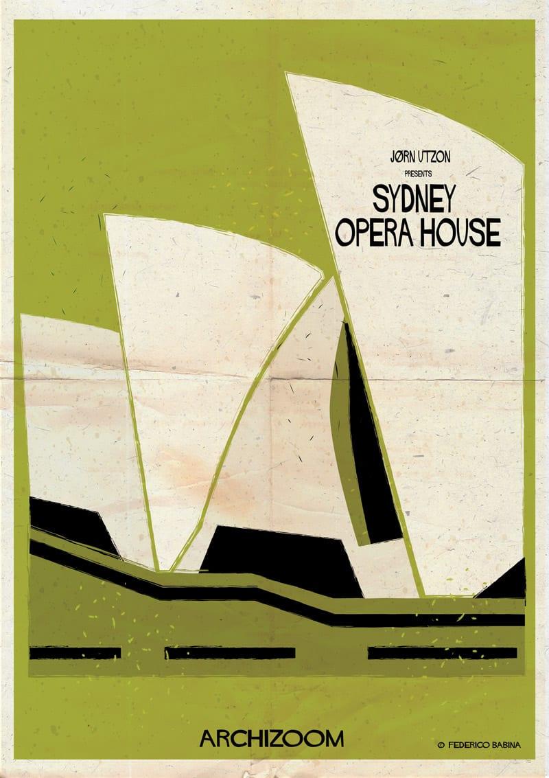 022 Sydney Opera House 01 905 - Side project na dnes: Plagáty svetoznámych budov vo filmovom štýle