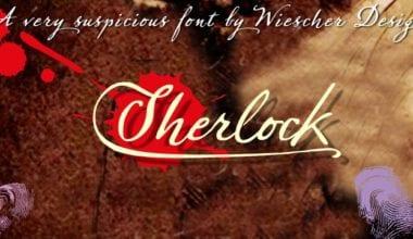141370 380x220 - Font dňa – Sherlock Script
