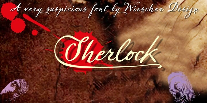 141370 - Font dňa – Sherlock Script