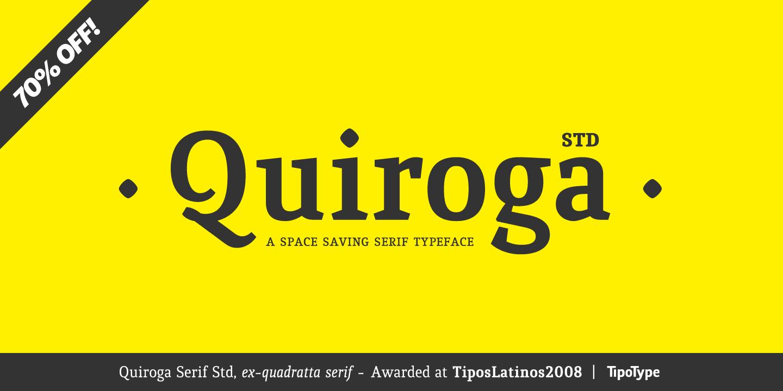 141939 - Font dňa – Quiroga Serif Std (zľava 70%, od 4,80€, rodina 20,10€)