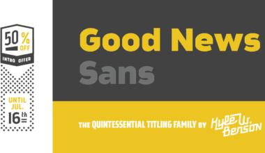 142322 380x220 - Font dňa – Good News Sans (zľava 50%, od 2€, komplet 16€)