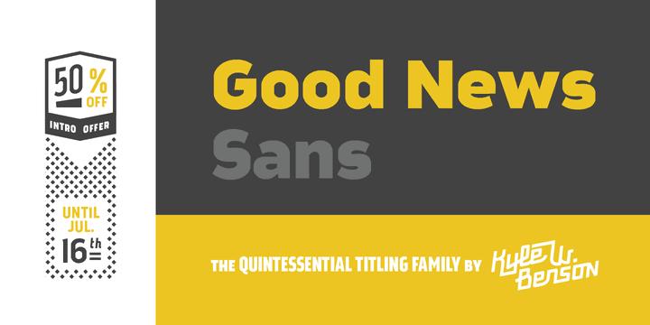 142322 - Font dňa – Good News Sans (zľava 50%, od 2€, komplet 16€)