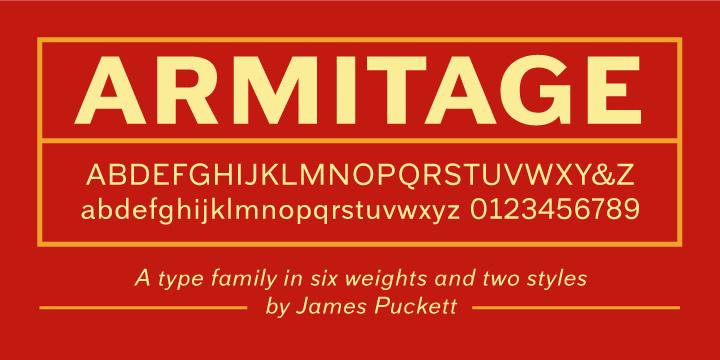36084 - Font dňa – Armitage (zľava 75%, od 5€)