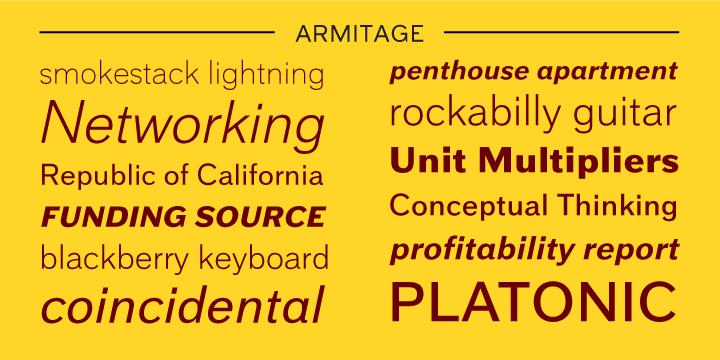 40522 - Font dňa – Armitage (zľava 75%, od 5€)