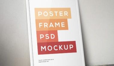 Poster Frame PSD MockUp full 380x220 - Poster Frame MockUP zadarmo