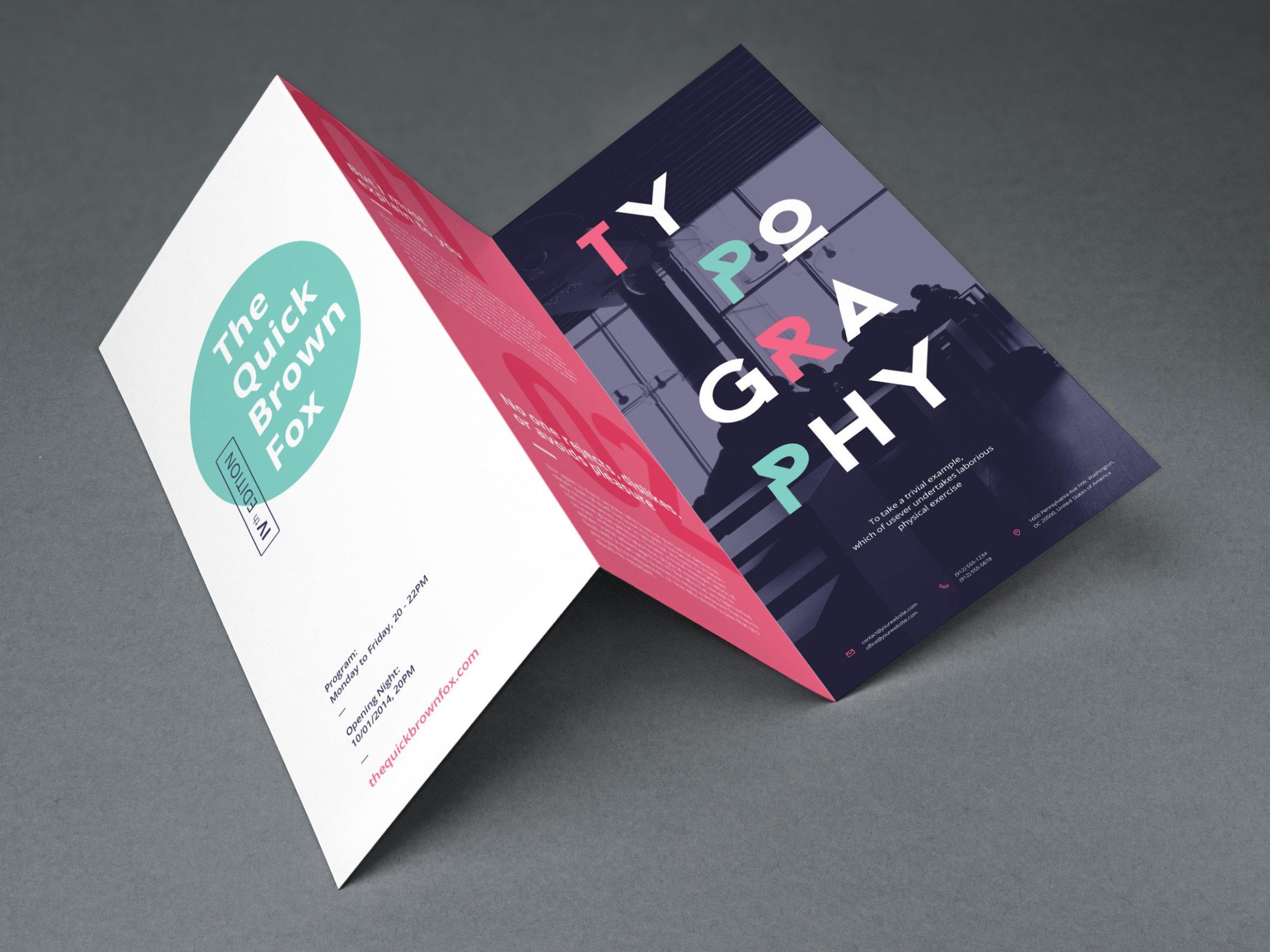 Tri Fold Brochure MockUp full