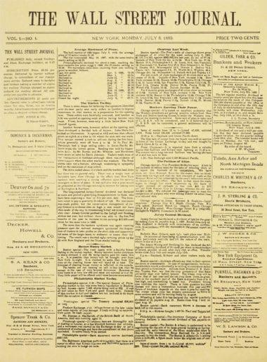 broadsheet 380x515 - Wall Street Journal so 125-ročnou obálkou