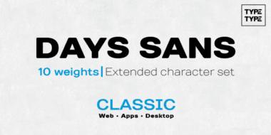 141964 380x190 - Font dňa – TT Days Sans (zľava 90%, od 1,05, rodina 8,55€)