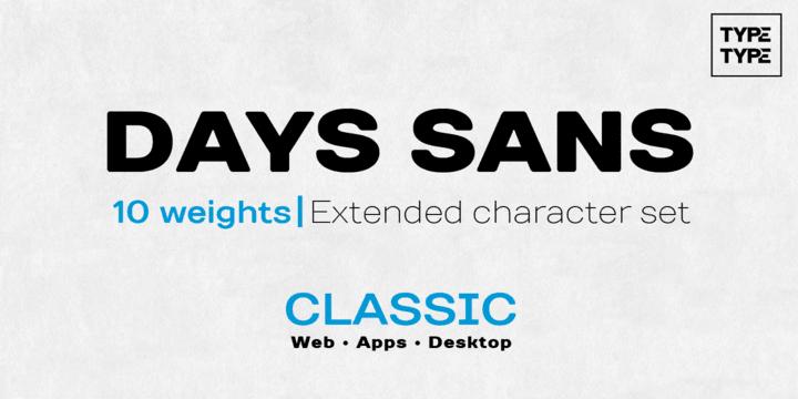 141964 - Font dňa – TT Days Sans (zľava 90%, od 1,05, rodina 8,55€)