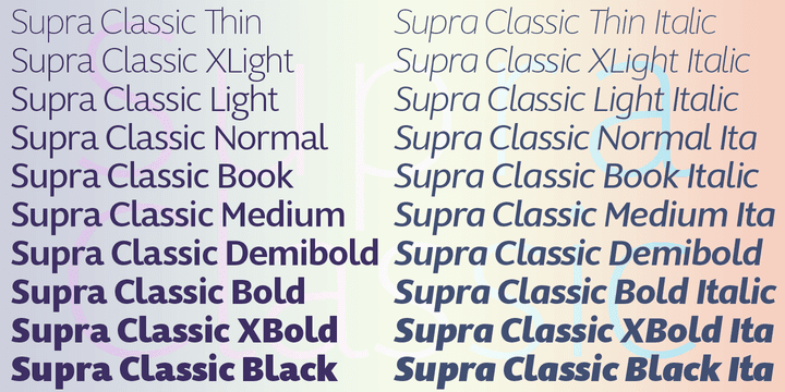 145571 - Font dňa – Supra Classic (zľava 50%, od 10€)