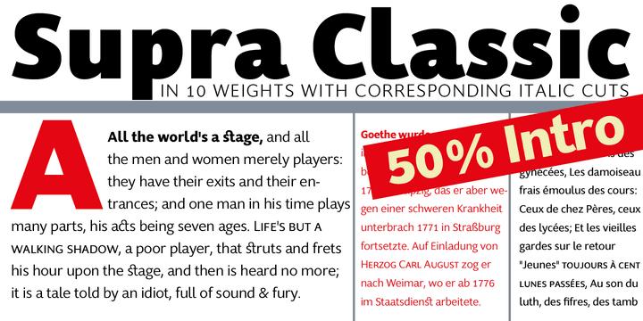 145669 - Font dňa – Supra Classic (zľava 50%, od 10€)
