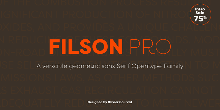 145884 - Font dňa – Filson Pro (zľava 75%, komplet 42,25€)