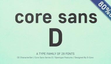 145896 380x220 - Font dňa - Core Sans D