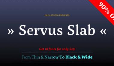146297 380x220 - Font dňa – Servus Slab (zľava 90%, rodina 20,30€)