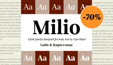 146439 380x220 - Font dňa – Milio (zľava 75%, od 4,50€)