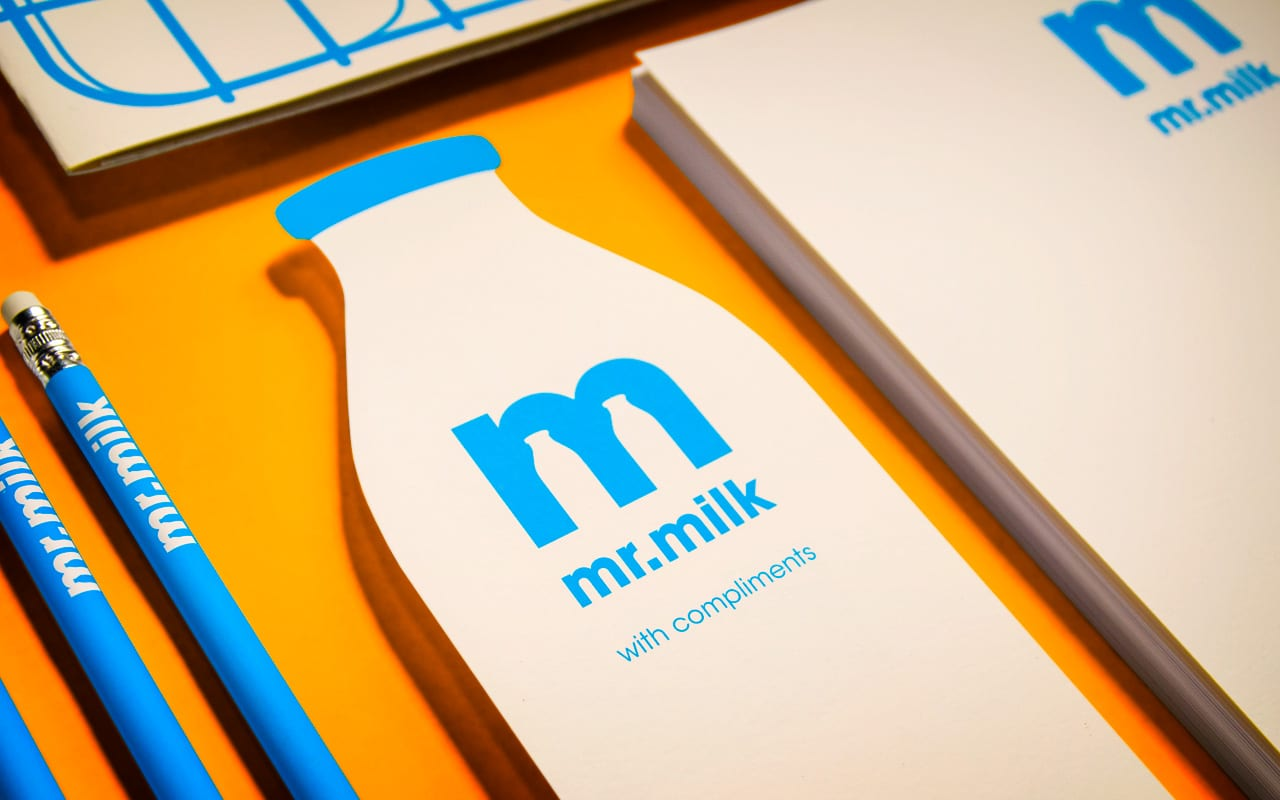 mr milk compliments slip - Čas na mliečnu desiatu – identita Mr. Milk