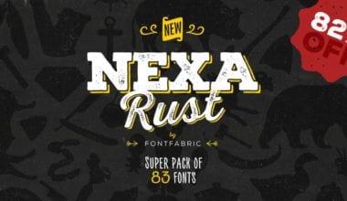 149689 380x220 - Font dňa – Nexa Rust (zľava 82%, rodina 35,98€)