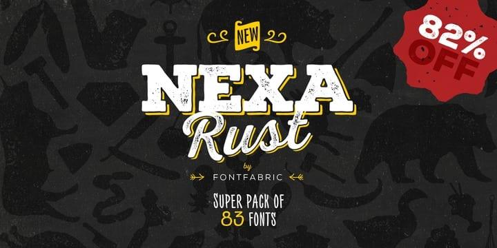 149689 - Font dňa – Nexa Rust (zľava 82%, rodina 35,98€)