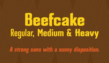 119552 380x220 - Font dňa – Beefcake (zľava 30%, rodina 25,89€)