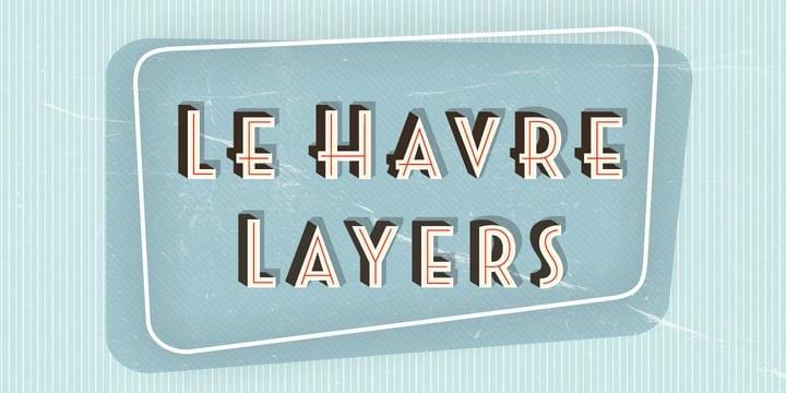 124027 - Font dňa – Le Havre Layers (zľava 30%, rodina 34,99€)