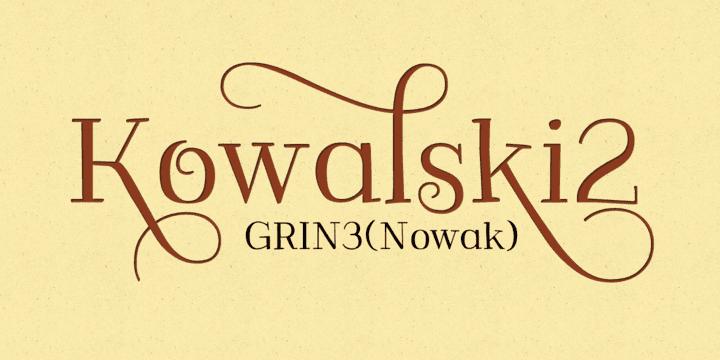 149635 - Font dňa – Kowalski2 (zľava 30%, od 10,49€)