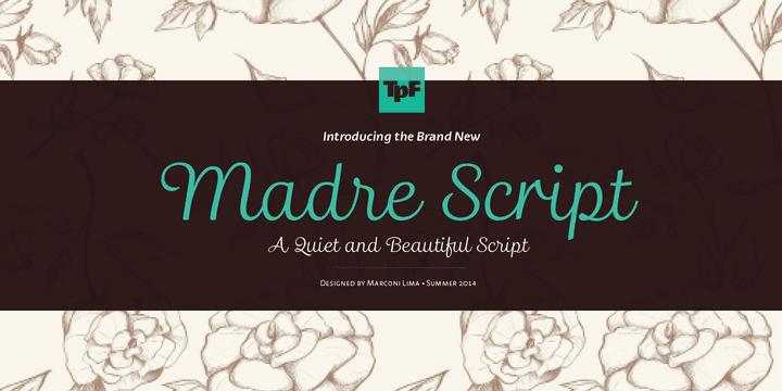 151066 - Font dňa – Madre Script