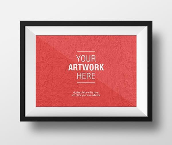Artwork Frame MockUps 6001 - Stiahnite si mockupy rámov zadarmo!