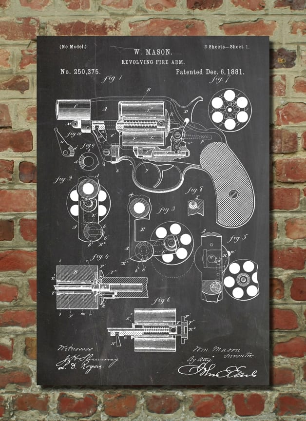 revolver mason - Patent na pekný print