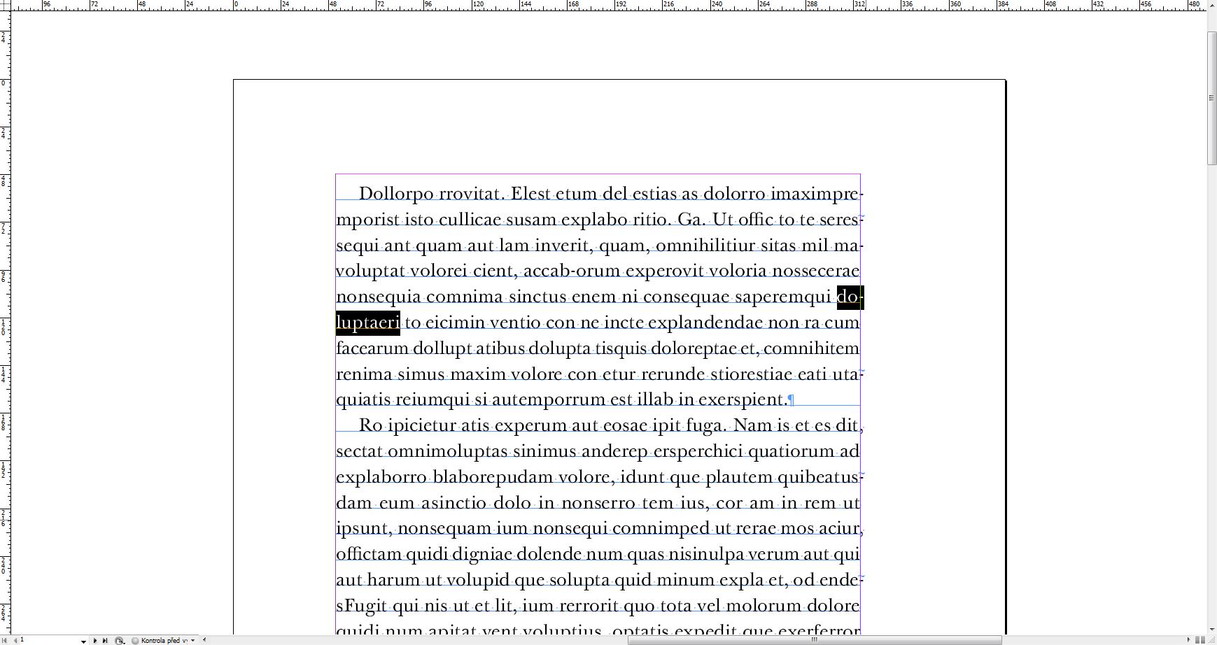 02 Najdene slovo so spojovnikom - Skript pre delenie slov so spojovníkom – InDesign