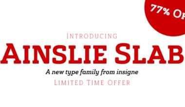 156373 380x220 - Font dňa – Ainslie Slab (zľava 77%, rodina 21,16€)