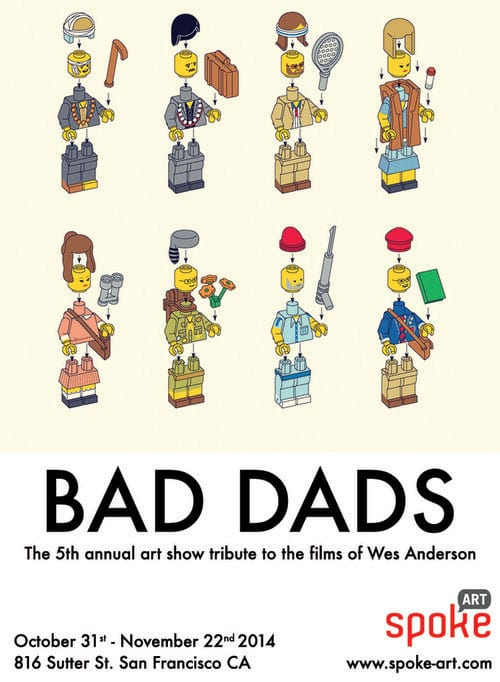 Bad+Dads+Wes+Anderson+Art+Show+Lego