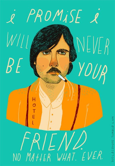 Jack from Darjeeling Limited HolaCoyote - Fan art na tému filmy Wesa Andersona