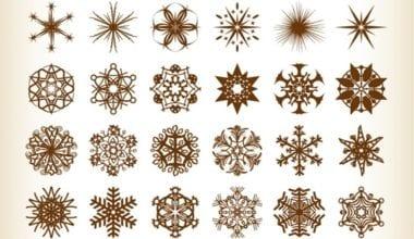 Set of Vector Snowflake Elements 380x220 - Vianočné vectory zadarmo!