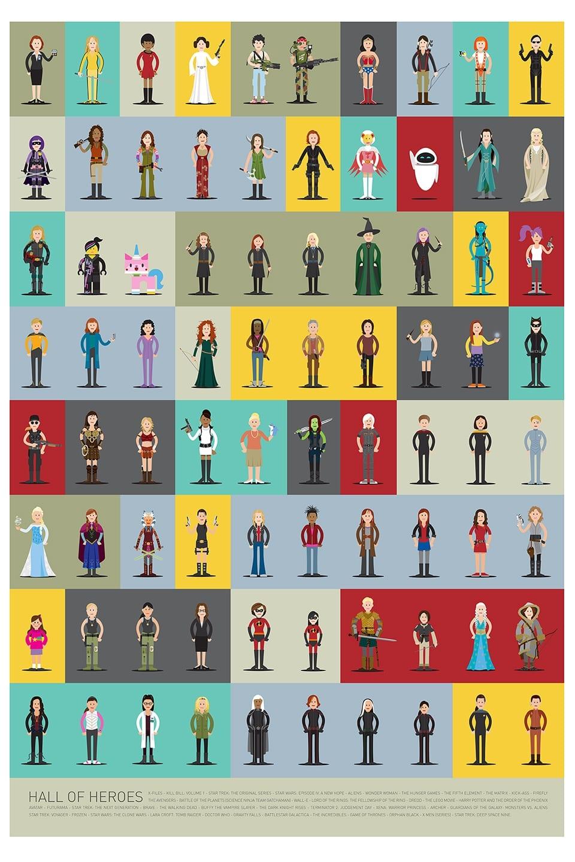 full - Hall of Heroes – séria ilustrácií ženských hrdiniek
