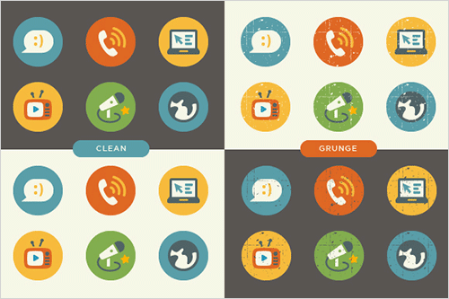 icon set preview opt - Set vintage flat ikoniek zadarmo!