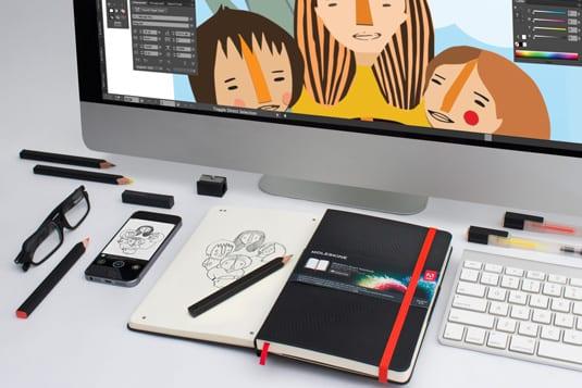 moleskine5 - Moleskine s Adobe prenesú vaše skice do digitálu!