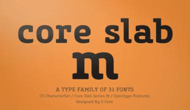 123341 380x220 - Font dňa – Core Slab M (zľava 90%, od 1,80€)