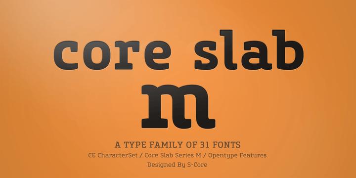 123341 - Font dňa – Core Slab M (zľava 90%, od 1,80€)