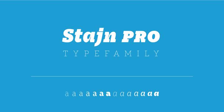 127487 - Font dňa – Stajn Pro