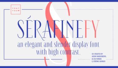 128200 380x220 - Font dňa – Serafine FY (zľava 40%, 15€)