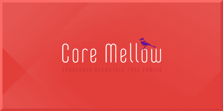 128418 - Font dňa – Core Mellow (zľava 90%, od 1,50€, komplet 12,50€)