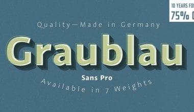 155344 380x220 - Font dňa – Graublau Sans Pro (zľava 75%, od 9€)