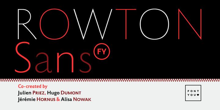 155531 - Font dňa – Rowton Sans FY (zľava 50%, od 25€)