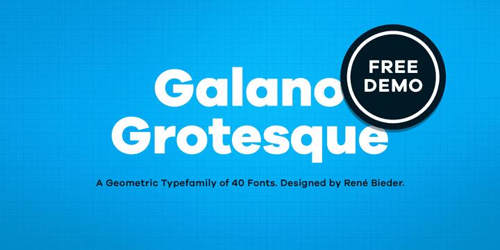 155997 - Font dňa – Galano Grotesque (zľava 85%, komplet 33,45€)
