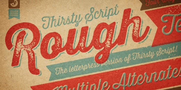 97486 - Font dňa – Thirsty Rough (zľava 50%, komplet 18€)