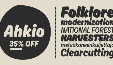 156659 380x220 - Font dňa – Ahkio (zľava 35%, od 12,34€)