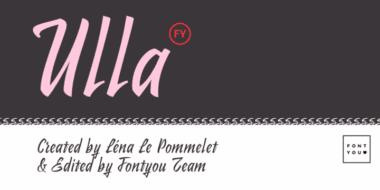 156971 380x190 - Font dňa – Ulla FY (zľava 30%, 18,89€)