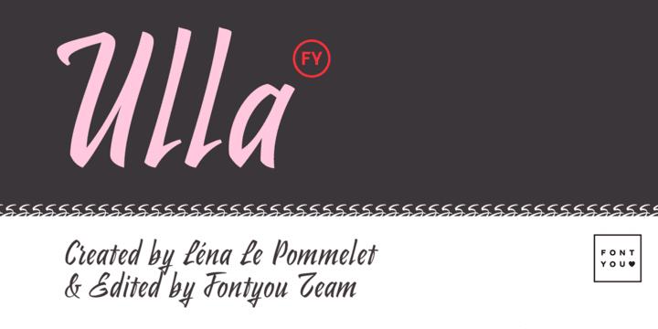 156971 - Font dňa – Ulla FY (zľava 30%, 18,89€)