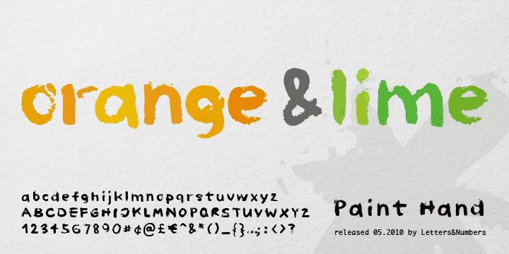 831979cdc82239bb411794d618b7cfbb - Font dňa – Paint Hand (zľava 25%, 10,49€)